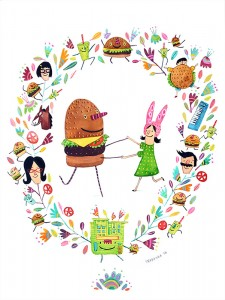 Bob's Burgers show at Spoke Art NYC!